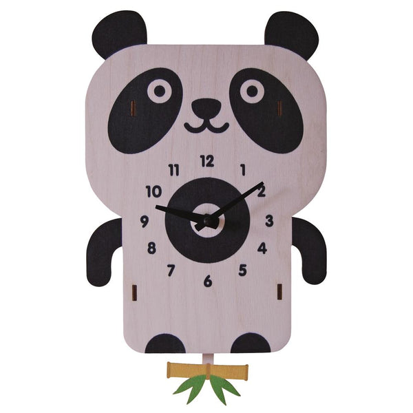 Pendulum Clock | Panda - Pendulum Clocks - Poshinate Kiddos Baby & Kids Store