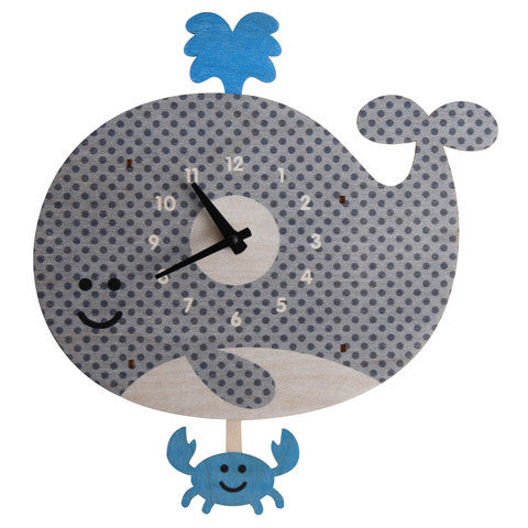 Pendulum Clock | Whale - Pendulum Clocks - - Poshinate Kiddos