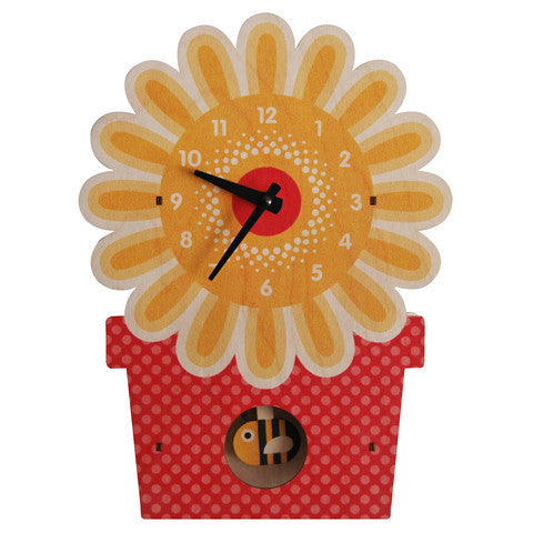 Pendulum Clock | Flower Pot - Pendulum Clocks - - Poshinate Kiddos