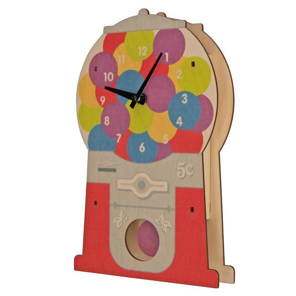 Pendulum Clock | Gumball Candy Machine - Pendulum Clocks - Poshinate Kiddos Baby & Kids Boutique - Side View