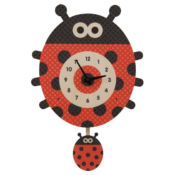 Pendulum Clock | LadyBug - Pendulum Clocks - Poshinate Kiddos Baby & Kids Gifts - St Peter MN