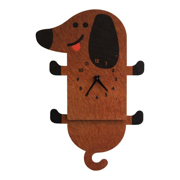 Pendulum Clock | Wiener Dog - Pendulum Clocks - Poshinate Kiddos Baby & Kids Boutique