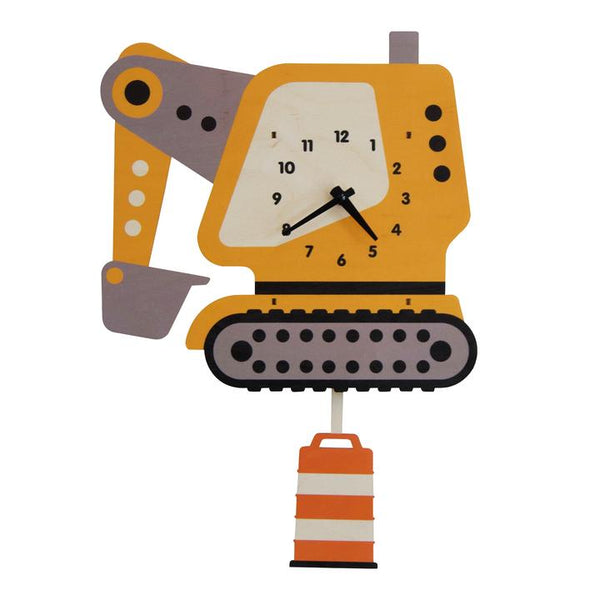 Pendulum Clock | Excavator - Pendulum Clocks - Poshinate Kiddos Baby & Kids Store