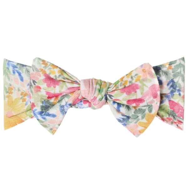 Baby Headband Bow | Pastel Floral - Accessories - Poshinate Kiddos Baby & Kids Store - bow alone