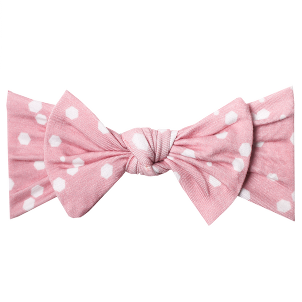 Baby Headband Bow | Pink Dot - Accessories - Poshinate Kiddos Baby & Kids Store - bow alone