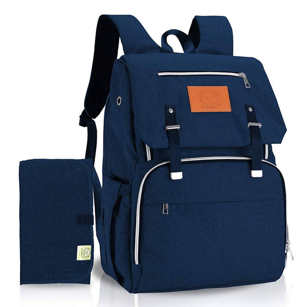 Diaper Bag Backpack | Navy - Diaper Bags - Poshinate Kiddos Baby & Kids Boutique - front of bag