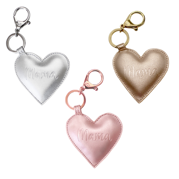 Diaper Bag Charm/Keychain | Mama Heart - Accessories - Poshinate Kiddos baby & Kids Store - all hearts