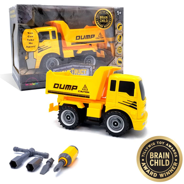 Kids Dump Truck Toy | 22 Pc Build Your Own Dump Truck - Kids Toys - Poshinate Kiddos Baby & Kids Toy Store - Main