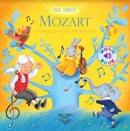 Kids Music Sound Book | Mozart - Books & Activities - Poshinate Kiddos Baby & Kids Store - cover of book