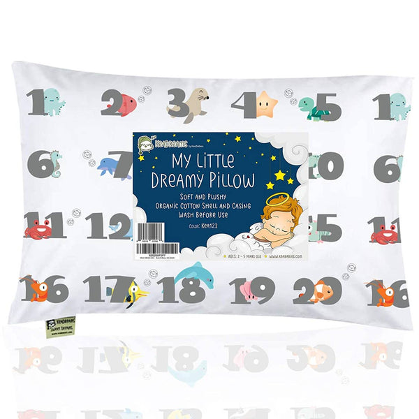 Kids Pillow | 123 Sealife - Kids Pillow - Poshinate Kiddos Baby & Kids Boutique - front of pillow