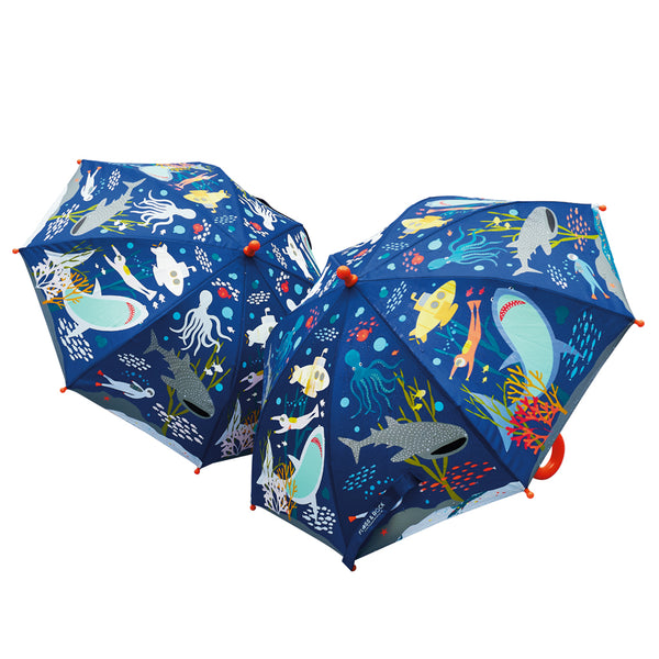 Kids Color Changing Umbrella | Deep Sea