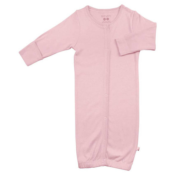 Baby Gown | Light Pink - Baby Gown - Poshinate Kiddos Baby & Kids Store - gown flat