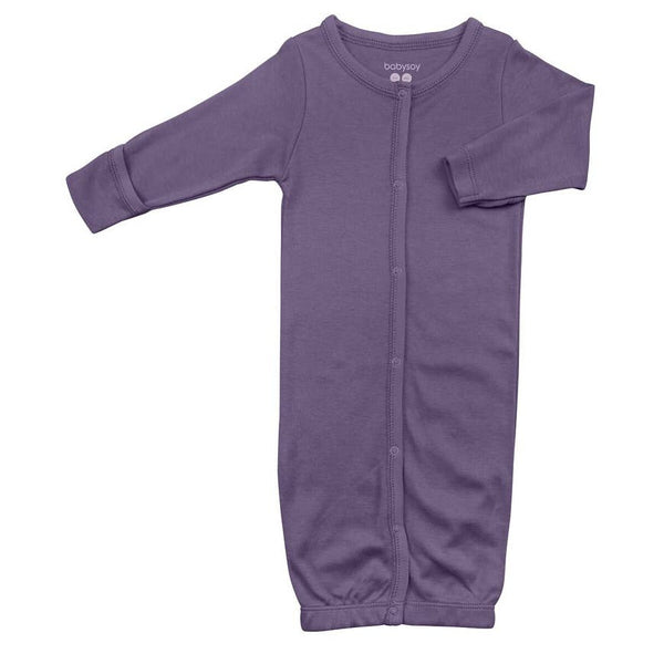 Baby Gown | Wineberry - Baby Gown - Poshinate Kiddos Baby & Kids Store - gown laying flat