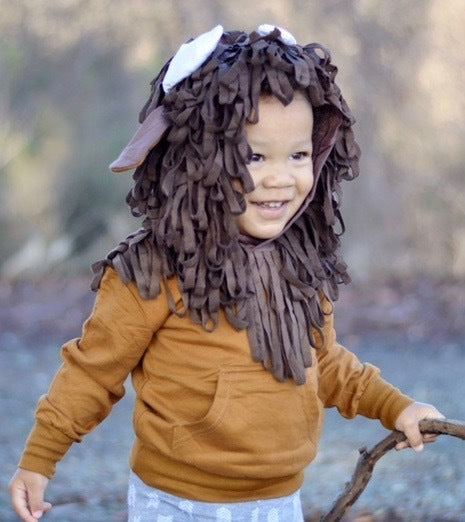 Kids Animal Hooded Sweatshirts | Buffalo | Tan & Brown | Kids Sweatshirts | Poshinate Kiddos Baby & Kids Store | front on child