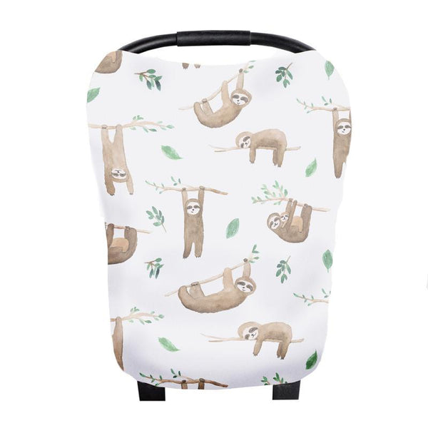 Multi Use 5 in 1 Baby Cover | Tan Sloth