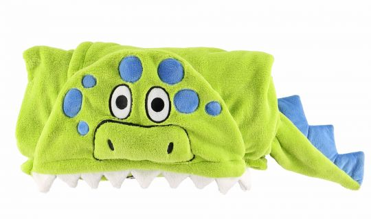 Hooded Kids Fleece Blanket | Dinosaur