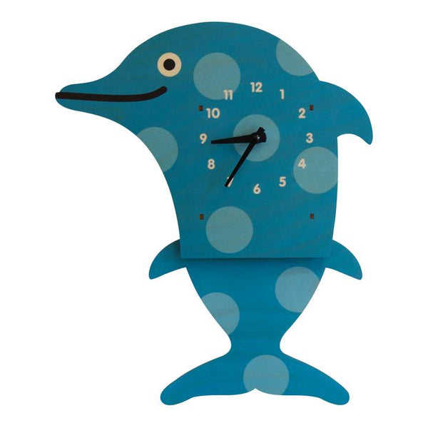 Pendulum Clock | Dolphin - Pendulum Clocks - Poshinate Kiddos Baby & Kids Boutique - front of clock
