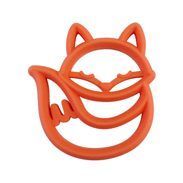 Baby Teether | Fox - Baby Teethers  - Poshinate Kiddos Baby & Kids Store - orange front