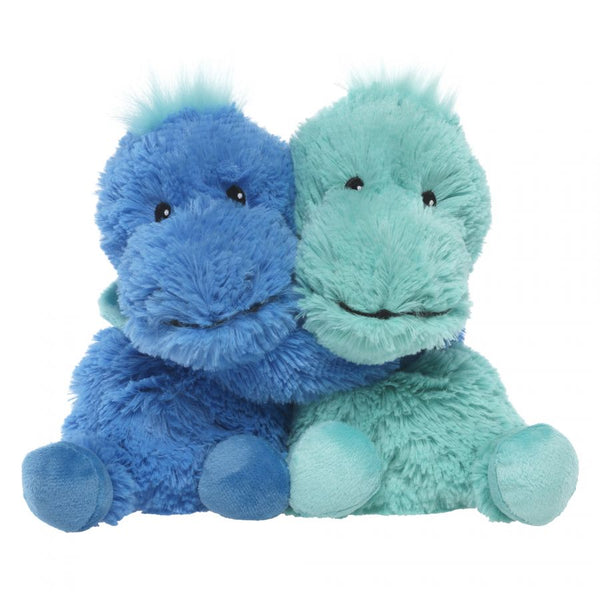 Heatable Stuffed Animal Friends | DInosaurs | Set of 2 - Heatable Plush Toys - Poshinate KIddos Baby & Kids Boutique - green on right