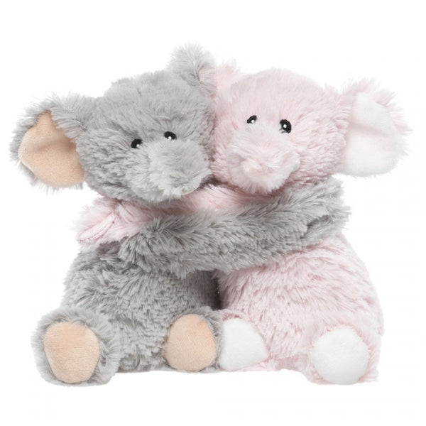 Heatable Stuffed Animal Friends | Elephants | Set of 2 - Heatable Plush Toys - Poshinate KIddos Baby & Kids Boutique - pink on right