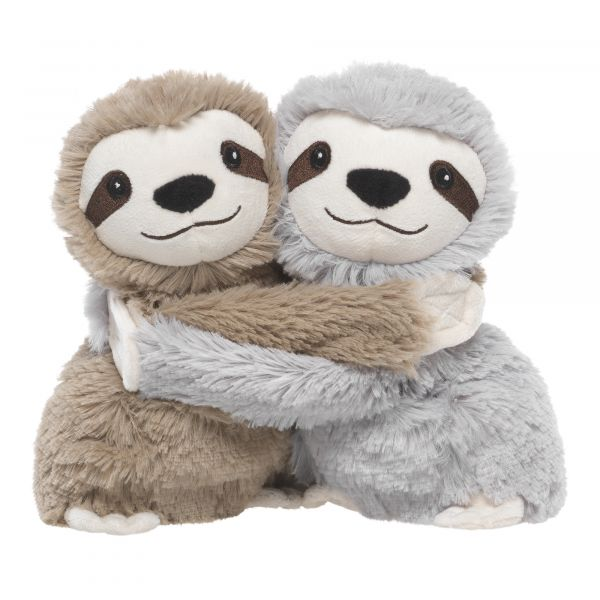 Heatable Stuffed Animal Friends | Sloths | Set of 2 - Heatable Plush Toys - Poshinate KIddos Baby & Kids Boutique - brown on left