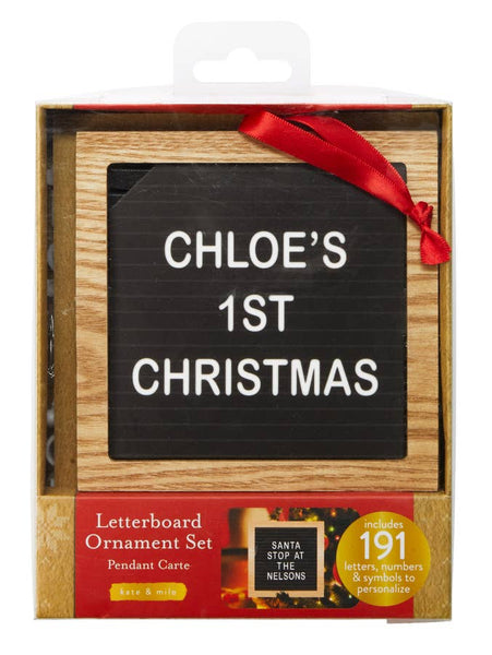 Holiday Letterboard Ornament | 191 pc set