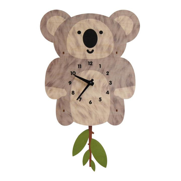 Pendulum Clock | Koala - Pendulum Clocks - Poshinate Kiddos Baby & Kids Boutique - front of Koala Clock