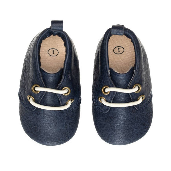 Baby Shoes | Oxford | Marine Navy - Baby Footwear - Poshinate Kiddos Baby & Kids Store - top view