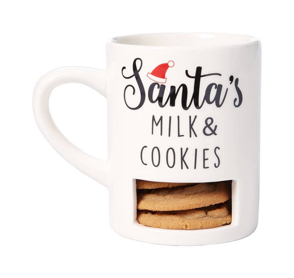 Santa's Milk & Cookies Mug - Holiday Items - Poshinate Kiddos Baby & Kids Boutique - out of box