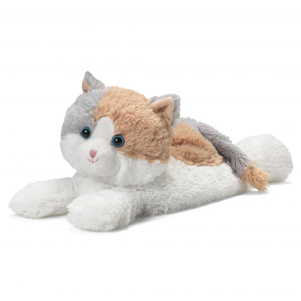 Heatable Stuffed Animal | Calico Cat Laying Down
