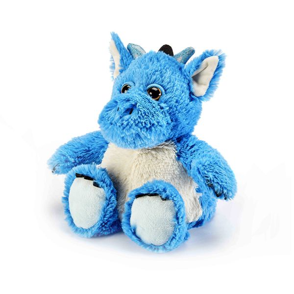 Heatable Stuffed Animal | Blue Dragon - Heatable Plush Toys - Poshinate Kiddos Baby & Kids Boutique - dragon with horns