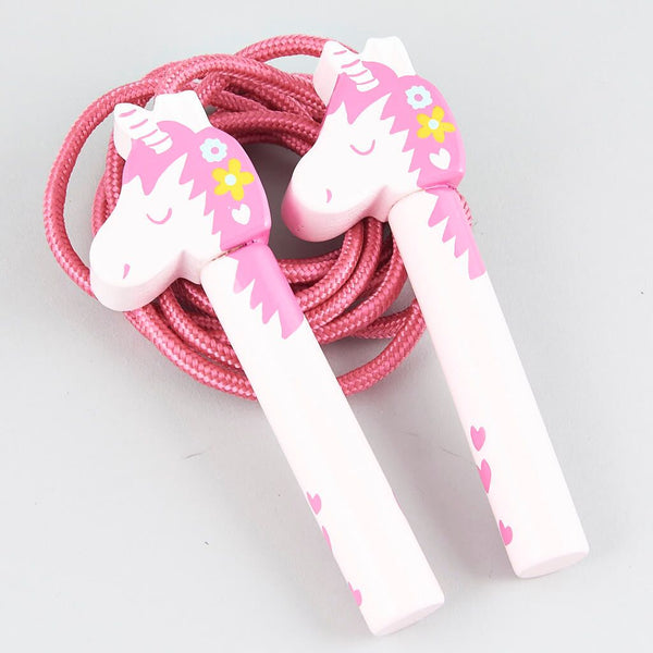 Kids Jump Rope | Pink Unicorn - Puzzles, Games & Toys - Poshinate Kiddos Baby & Kids Boutique - unicorn wooden handles
