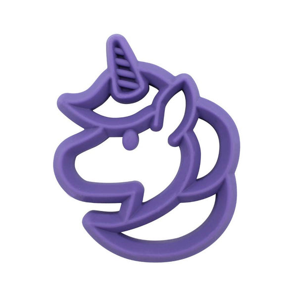 Baby Teether | Unicorn - Baby Teethers  - Poshinate Kiddos Baby & Kids Store - purple front