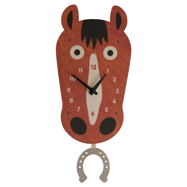Pendulum Clock | Horse - Pendulum Clocks - Poshinate Kiddos