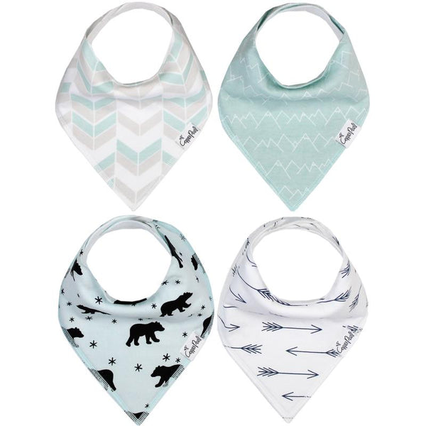 Baby Bibs | Bandana | Black Bear / Arrows 4-Pack - Baby Bibs - Poshinate Kiddos Baby & Kids Boutique - variety pack 4 bibs