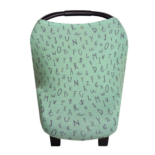Multi Use 5 in 1 Baby Cover | Green Alphabet