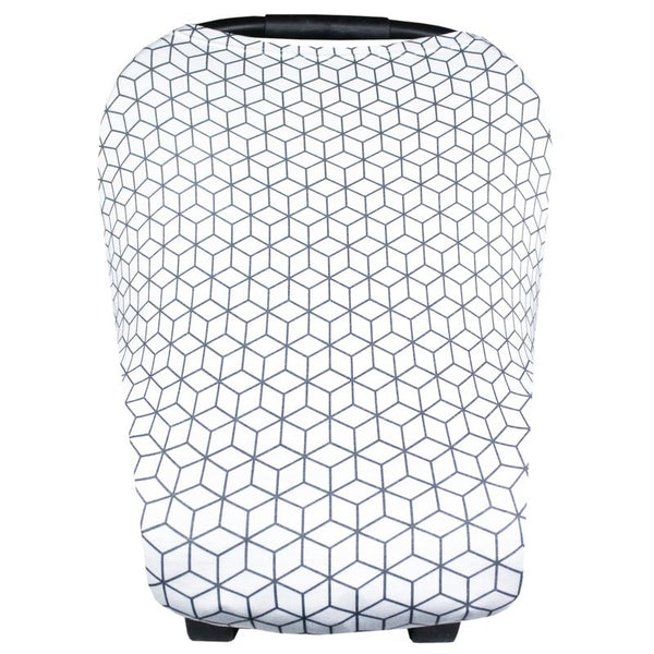 Multi Use 5 in 1 Baby Cover | Grey Geometric -Accessories -Poshinate Kiddos Baby & Kids Boutique -carseat cover