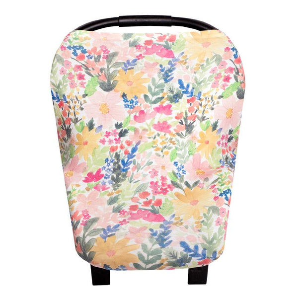 Multi Use 5 in 1 Baby Cover | Pastel Floral -Accessories -Poshinate Kiddos Baby & Kids Boutique -main carseat cover
