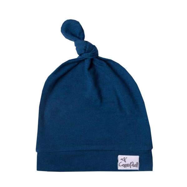 Baby Top Knot Hat | Navy