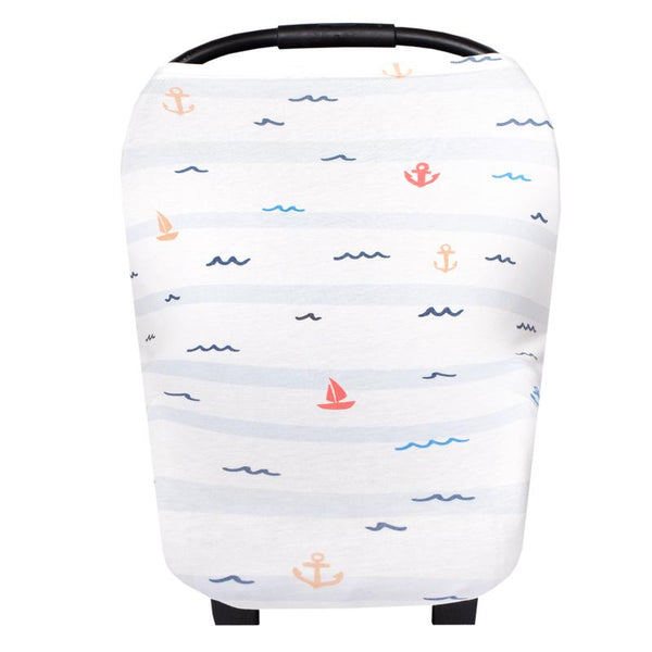 Multi Use 5 in 1 Baby Cover | Nautical -Accessories -Poshinate Kiddos Baby & Kids Boutique -covered carseat
