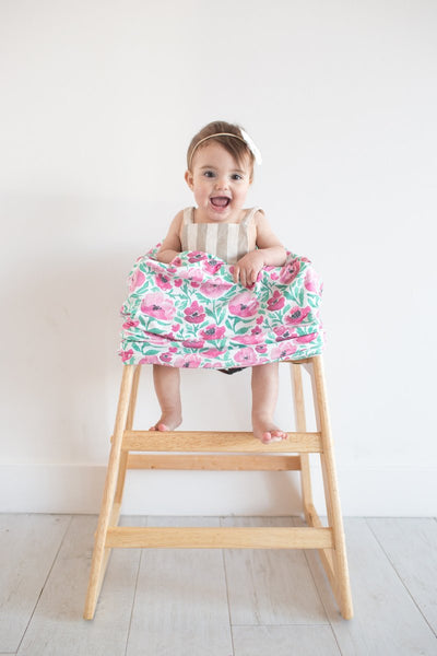 Brilliant Multi Use 5 In 1 Baby Cover Pink Green Floral Poshinate Alphanode Cool Chair Designs And Ideas Alphanodeonline