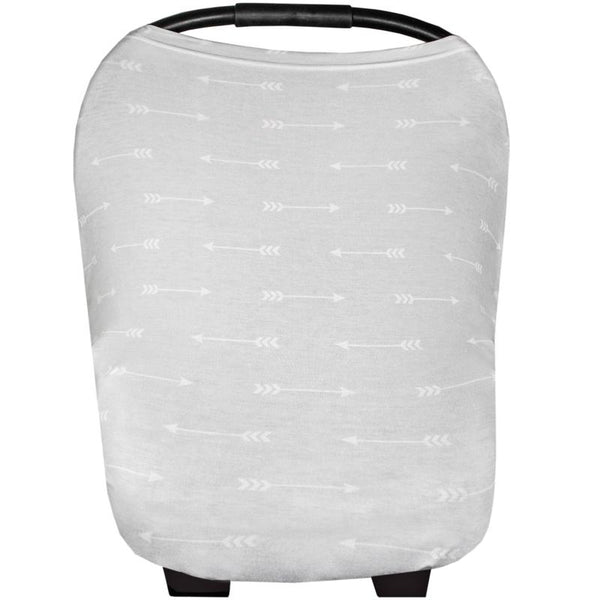 Multi Use 5 in 1 Baby Cover | Grey/White Arrows