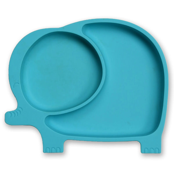 Baby & Kids Fresh Food Prep | Silicone Suction Plate - Blue - Food Prep & Accessories - Poshinate Kiddos Baby & Kids Boutique | Silicone Elephant Blue main image