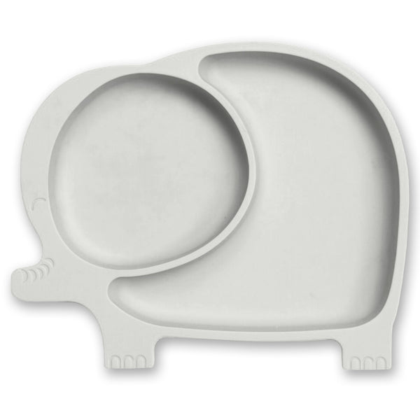 Baby & Kids Fresh Food Prep | Silicone Suction Plate | Grey - Food Prep & Accessories - Poshinate Kiddos Baby & Kids Gifts | Silicone Elephant Grey main image