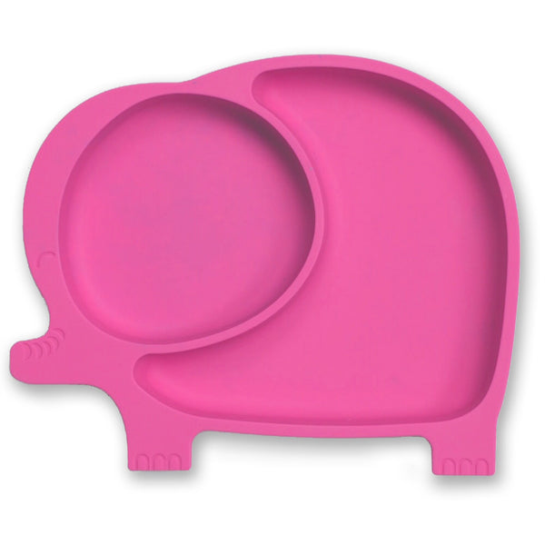Baby & Kids Fresh Food Prep | Silicone Suction Plates | Pink