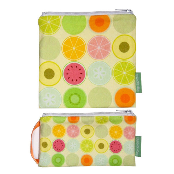 Baby & Kids Fresh Food Prep | Reusable Snack & Sandwich Bags | Fruit Dots set