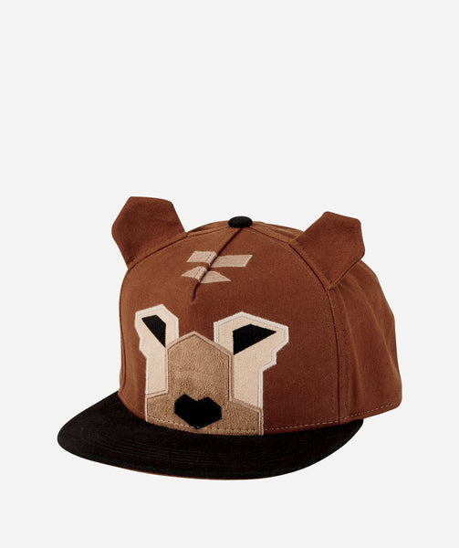 Kids Hat | Bear Design | Brown Black Tan - Kids Hats - Poshinate Kiddos Baby & Kids Boutique