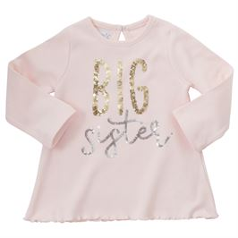 Girls Tunic | Big Sister | Pink Sequin | Girls Clothes | Poshinate Kiddos Baby & Kids