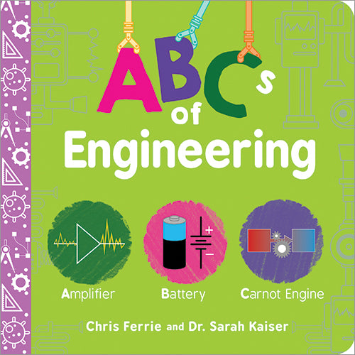 Kids Book | ABC's of Engineering -Books and Activities - Poshinate Kiddos Baby & Kids Boutique book front