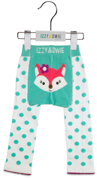 Baby Leggings | Fox Aqua/White